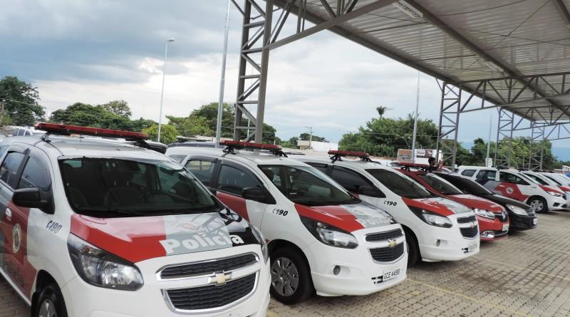 Viaturas entregues para o reforço da frota da PM na região; policiamento tem expectativa de maior atenção (Foto: Rafaela Lourenço)