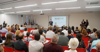 Uma das reuniões para debater e apresentar propostas do Plano Diretor Participativo; projeto passa por bairros para ampliar informações (Foto: Reprodução PMP)