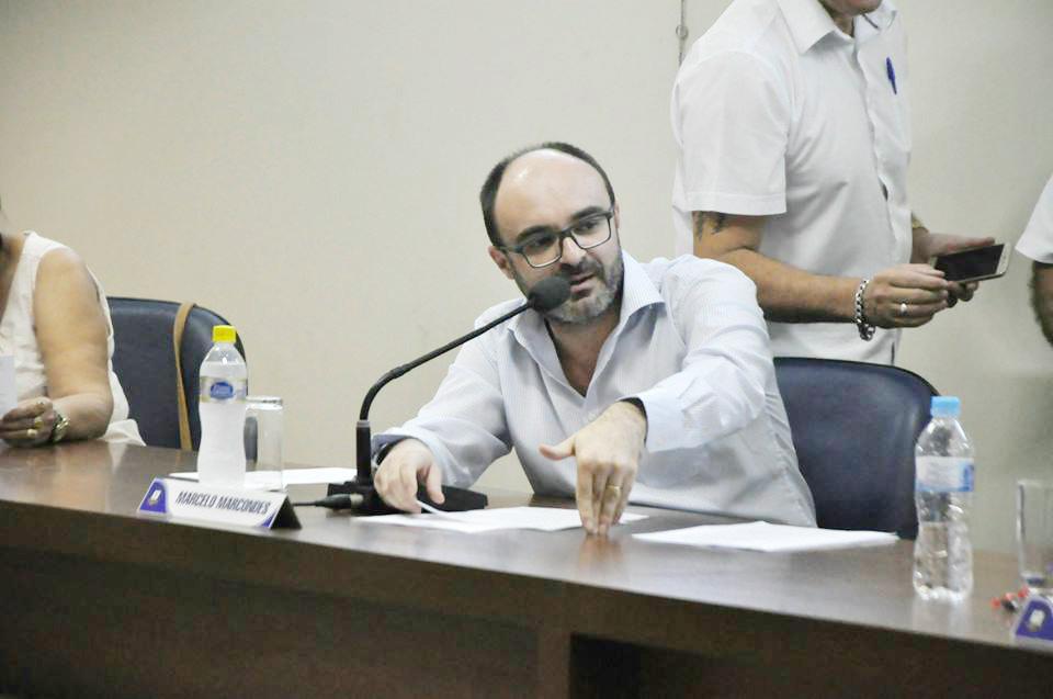 Marcelo Marcondes, um dos votos contrários ao pedido de Xande (Foto: Reprodução CMA)