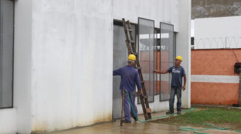 Obra em creche do Crispim; investimento de R$ 8,76 milhões de convênio garante trabalho em centros (Foto: Reprodução PMP)