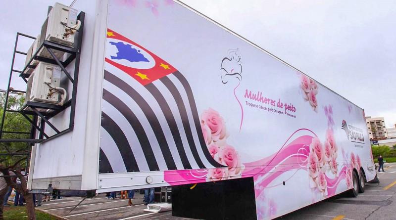 Unidade da carreta da mamografia; exames chegam em Ubatuba terça-feira (Foto: Reprodução)