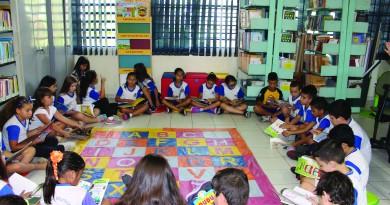 Leitura difundida na rede pública de Guaratinguetá; aposta da cidade na literatura segue com primeira feira programada para maio (Foto: Juliana Aguilera)