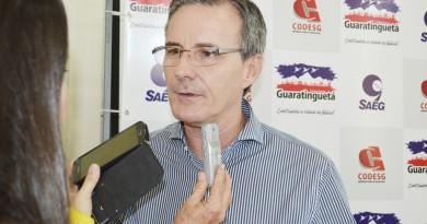 O prefeito Marcus Soliva, que tenta aprovação de projeto de extinção da Arsaeg na Câmara de Guará (Foto: Arquivo Atos)
