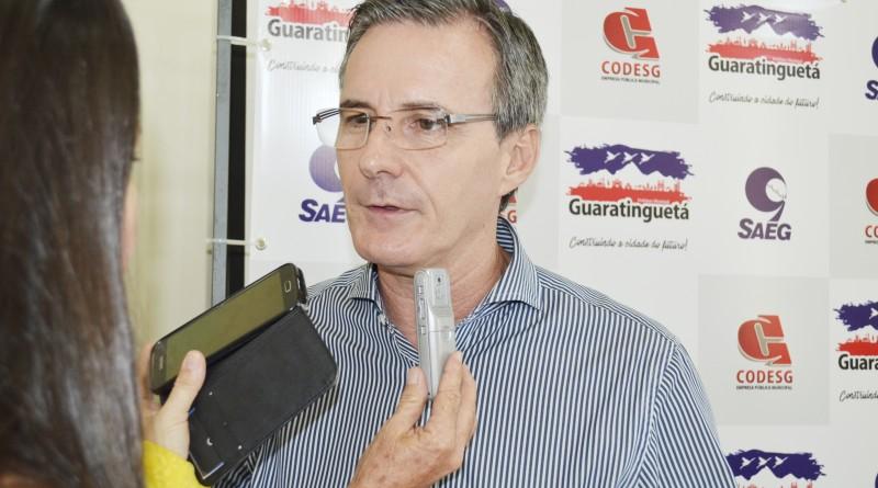 Prefeito Marcus Soliva, que confirmou o ano fechado no vermelho na autarquia de Guaratinguetá. (Foto:Rafael Rodrigues)