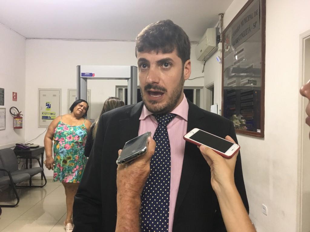 Pedro Sannini, acusado de embriagues, será julgado na Câmara (Foto: Leandro Oliveira)