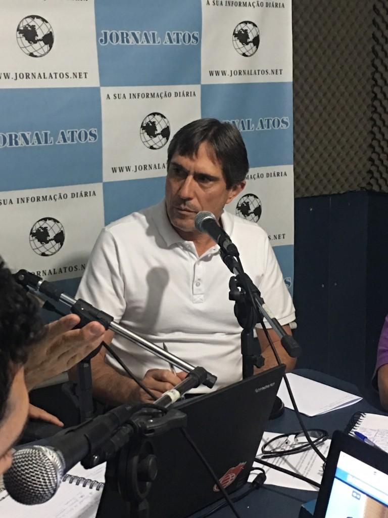 O prefeito de Lorena, Fábio Marcondes, que busca recursos para obras (Foto: Jéssica Dias)