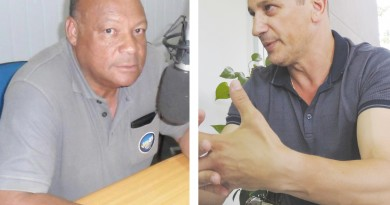 O presidente do Sindicato dos Servidores, Daniel Ramos, e o prefeito de Pinda Isael Domingues; lados de uma queda de braço ainda sem definição (Fotos: Arquivo Atos)