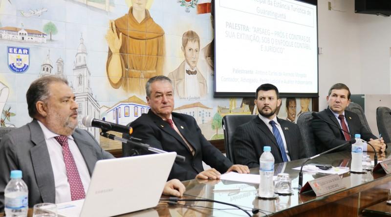 Dr. Morgado e os vereadores Luizão, Celão e Marcelo Santa Casa