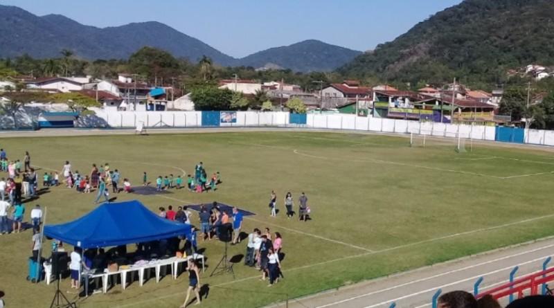 O estádio municipal Ciccillo Matarazzo, em Ubatuba, que passará por reforma com aporte federal (Foto: Divulgação PMU)