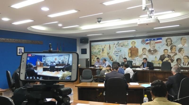 Câmara de Guaratinguetá que aprovou projeto alavancando subsídios de R$8.553 para R$11.462 (Foto: Arquivo Atos)