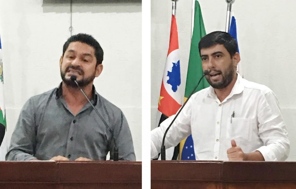 Vereador da base, Max Barros (esq.) defendeu Mota; Thales Satim (dir.) lamentou falta de investigação (Foto: Jéssica Dias)