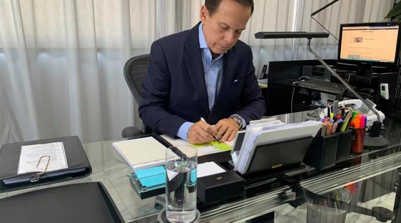 O governador João Doria, que anunciou novo investimento na RMVale (Foto: Reprodução GESP)