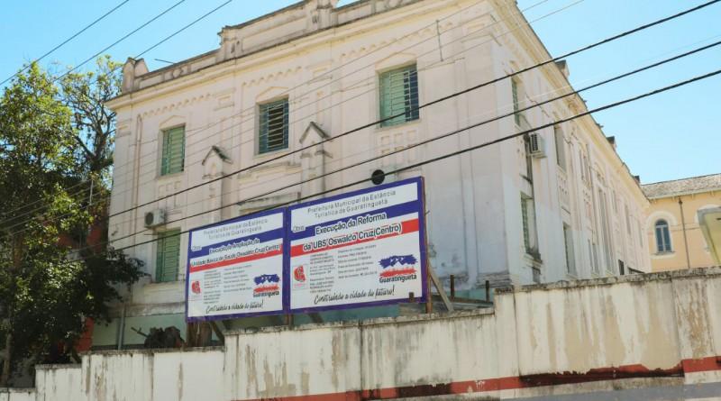 O UBS Oswaldo Cruz, que recebeu verba de R$ 580 mil para trabalho de recuperação estrutural em Guará (Foto: Marcelo A. dos Santos)