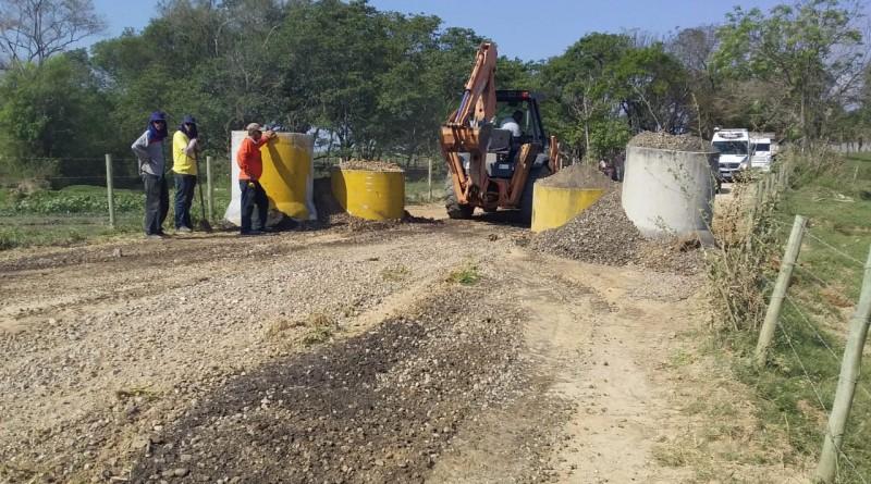 A Estrada da Sapucaia que recebeu obras de limitação para caminhões nesta semana (Foto: Divulgação PMP)