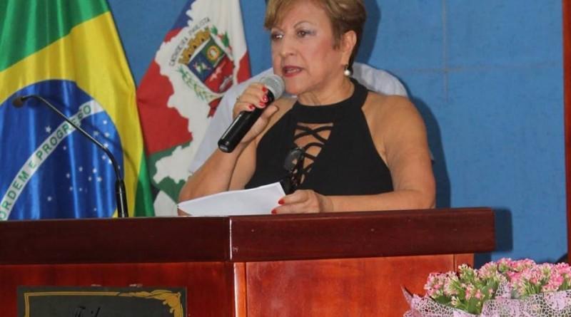A vereadora Mariza Hummel eleita para a próxima  (Foto: Reprodução)