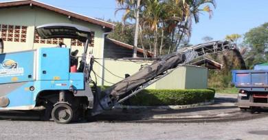 Serviços realizados no Pasim para recapeamento de vias (Foto: Divulgação PMP)