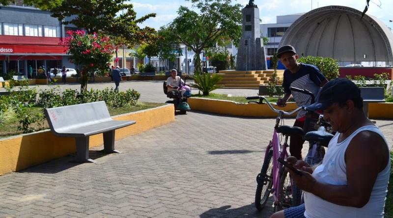 A Praça Prado Filho, um dos pontos que receberá Wi-fi gratuito (Foto: Arquivo Atos)