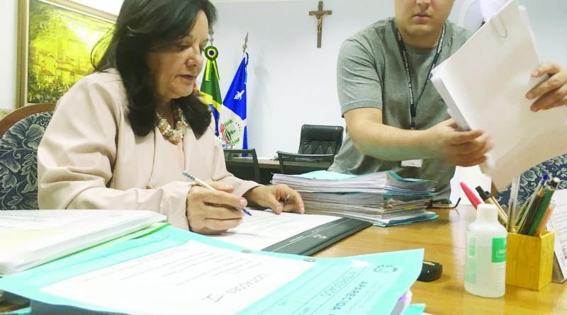 Dina Moraes, que tem até dezembro para exonerar oitenta cargos (Foto: Arquivo Atos)