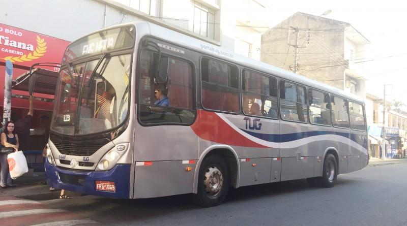 Ônibus do TUG em um dos principais pontos da cidade; novo reajuste é debatido entre vereadores (Foto: Letícia Noda)