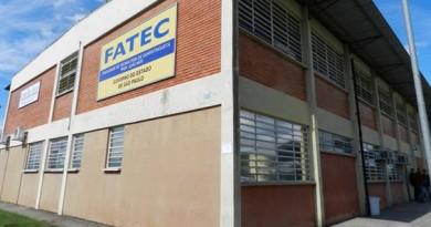 A Fatec de Guaratinguetá, uma das unidades com inscriçoes abertas para o vestibular (Foto: Reprodução)