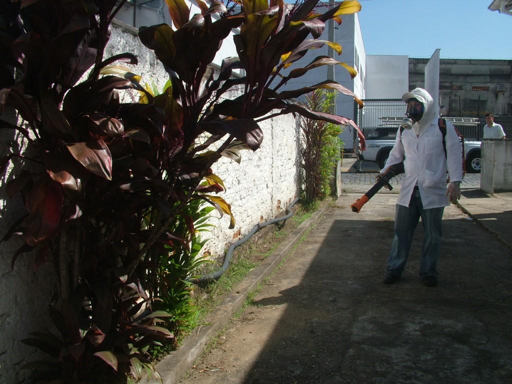 Agente de vetores durante ação de combate ao Aedes aegypti; Aparecida
