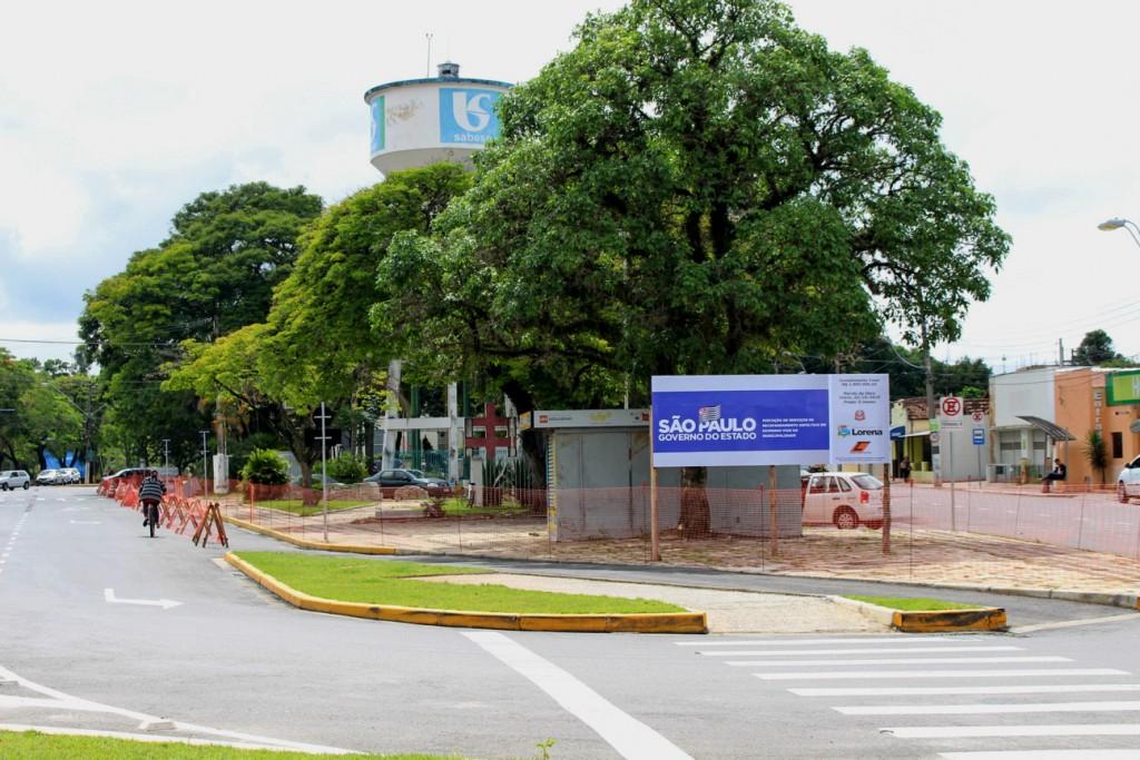 A praça Rosendo Pereira Leite que teve as obras retomadas; serviços também contemplam drenagens em vias da região central (Foto: Reprodução PML)