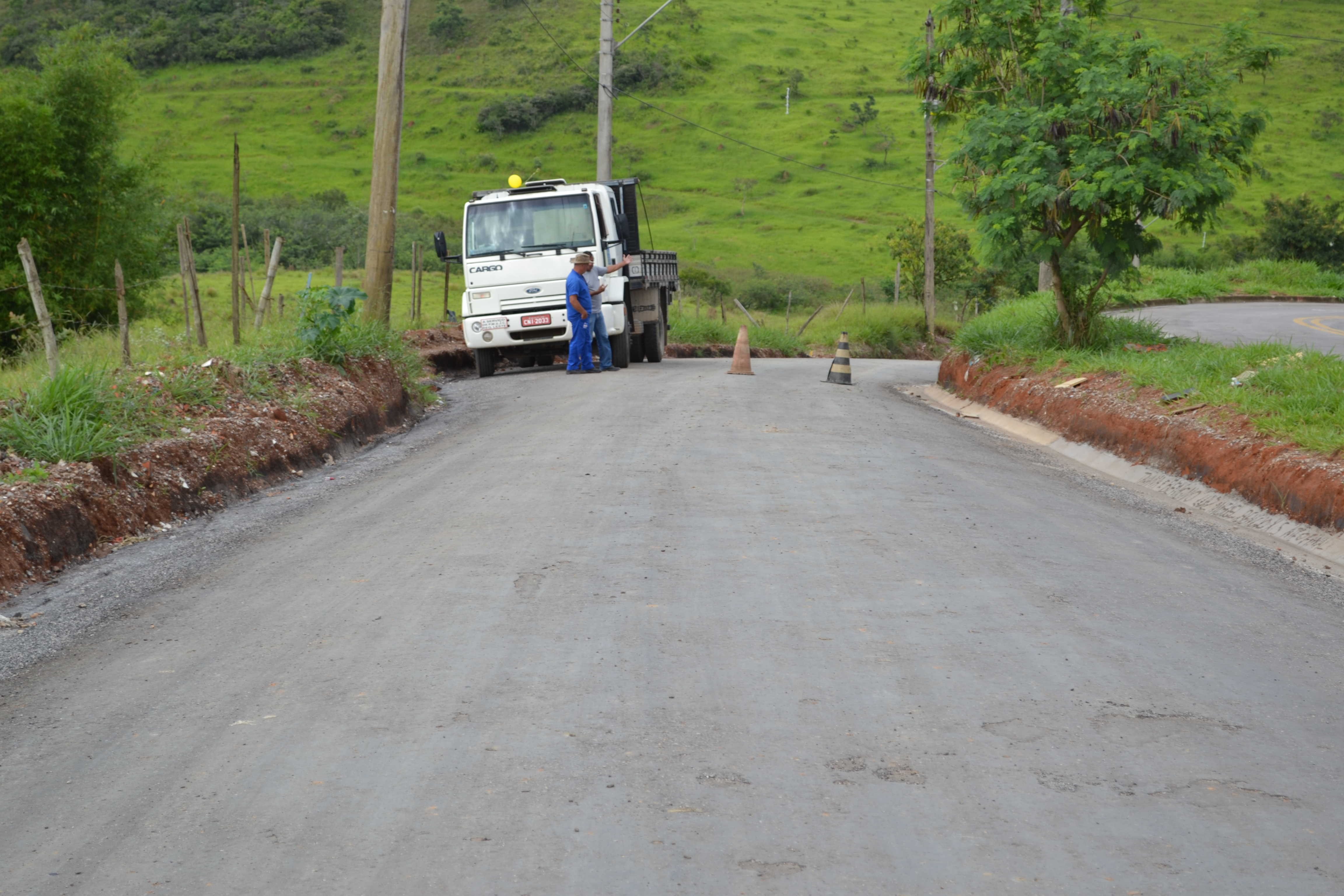 Estrada pavimentada com o xisto betuminoso em São José dos Campos (Colaboração)