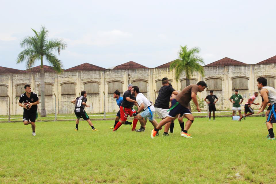 Jogadores que mantém treinamento regular aos domingos em preparação para a nova temporada da modalidade (Divulgação/Cruzeiro Guardians)