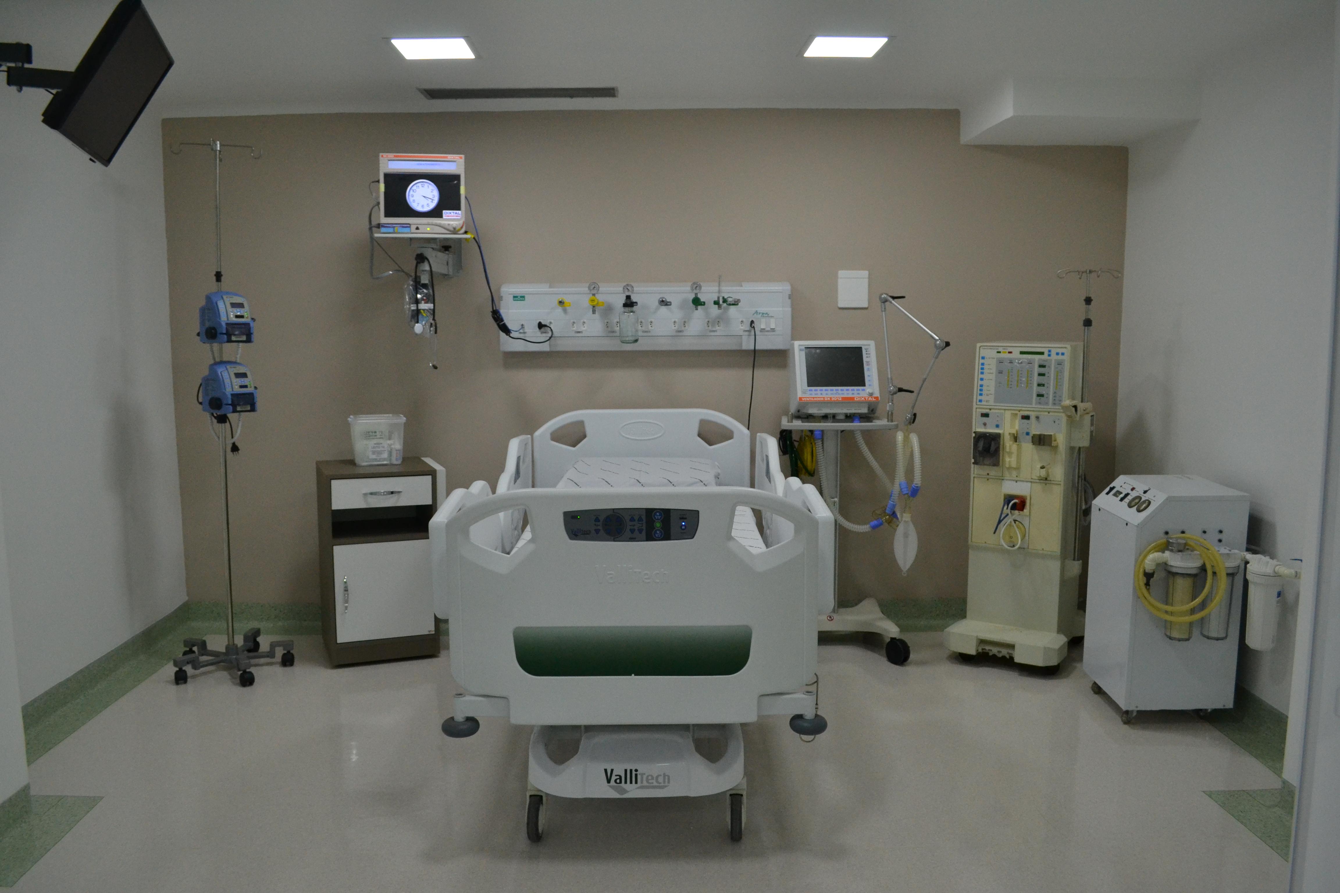 Leito na Unidade de Tratamento Intensivo; estelionatários tentam aplicar golpe em familiares de pacientes (Arquivo Atos)