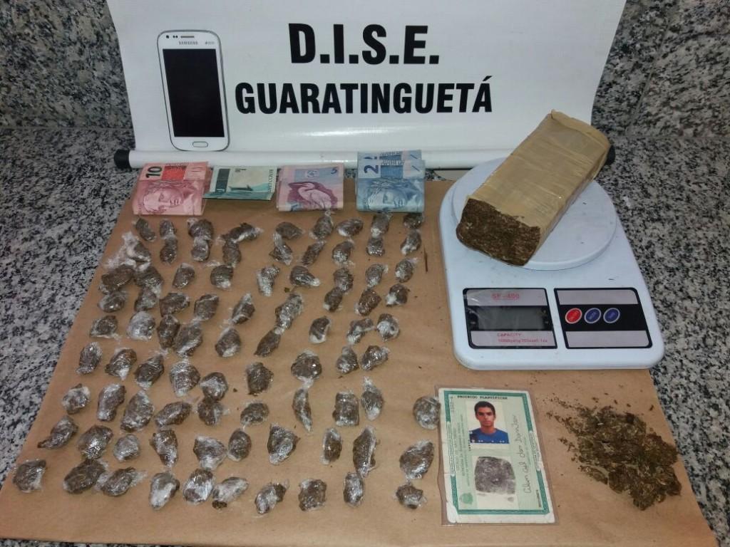 Material apreendido pela Dise no residencial Santa Mônica, na última segunda-feira (Divulgação / Dise)