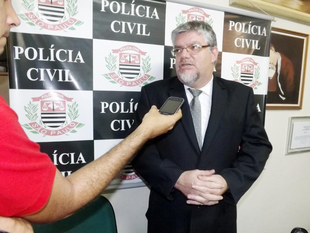 O delegado Vicente Lagioto é o responsável pela investigação do caso (Foto: Arquivo Atos)