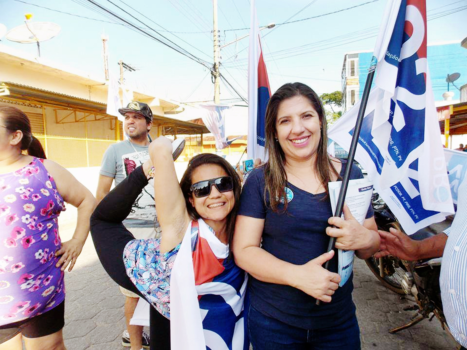 Erica bate concorrentes em campanha marcada por denúncias; futura prefeita promete fim da corrupção (Foto: Reprodução)