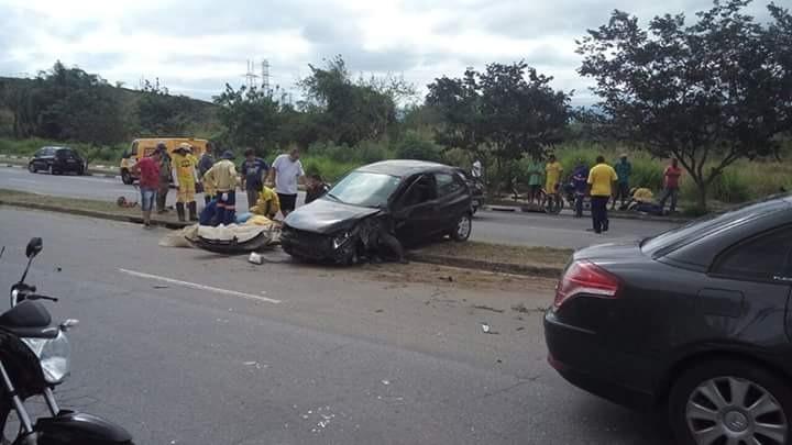 Acidente no anel viário Geraldo José Rodrigues Alckmin, que matou três homens na tarde da ultima segunda-feira (Foto: Divulgação Polícia Civil)