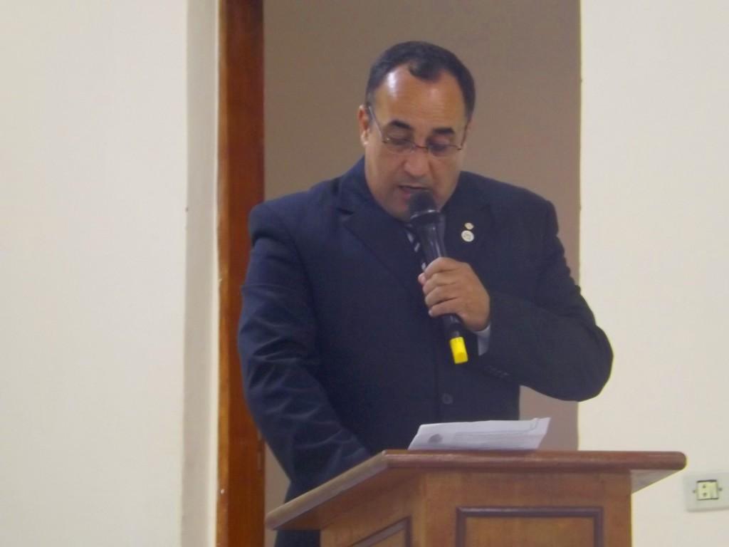 O vereador Mário Celso de Santana, que foi eleito presidente da Câmara de Piquete para os próximos dois anos (Foto: Lucas Barbosa)
