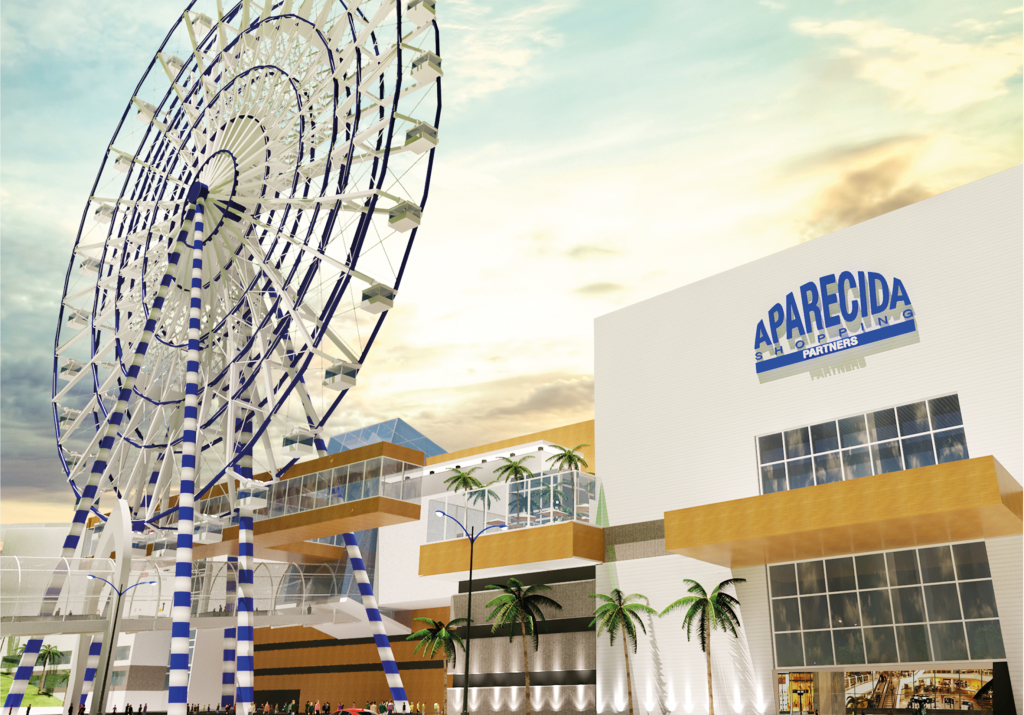 Projeção da entrega principal do futuro shopping em Aparecida, que tem prognóstico de gerar 3,5 mil novos empregos entre diretor e indiretos (Foto: Divulgação)