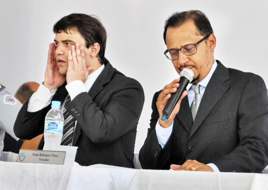 O ex-vereador Diego ao lado de Paulo Vieira