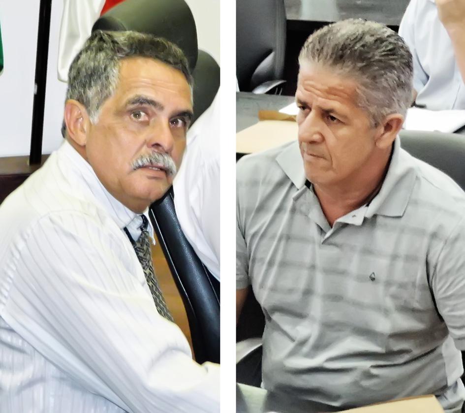O ex-vereador Martim César e Toninho da Farmácia (que segue na Casa), condenados por uso de carros (Foto: Arquivo Atos)