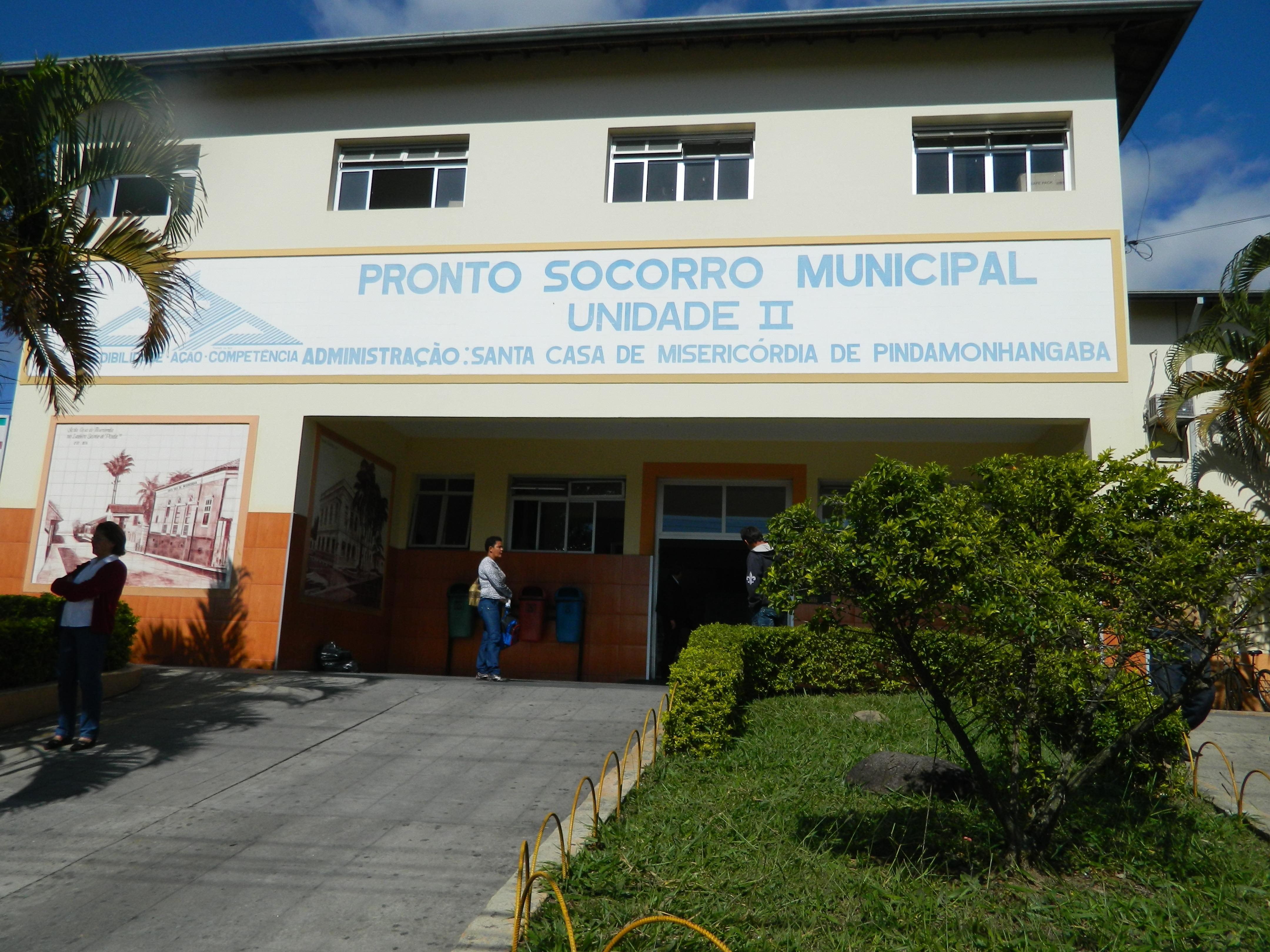 Prédio da Santa Casa de Pinda, responsável pelo PS até a última sexta-feira; ABBC assumiu com contrato mais econômico (Foto: Arquivo Atos)