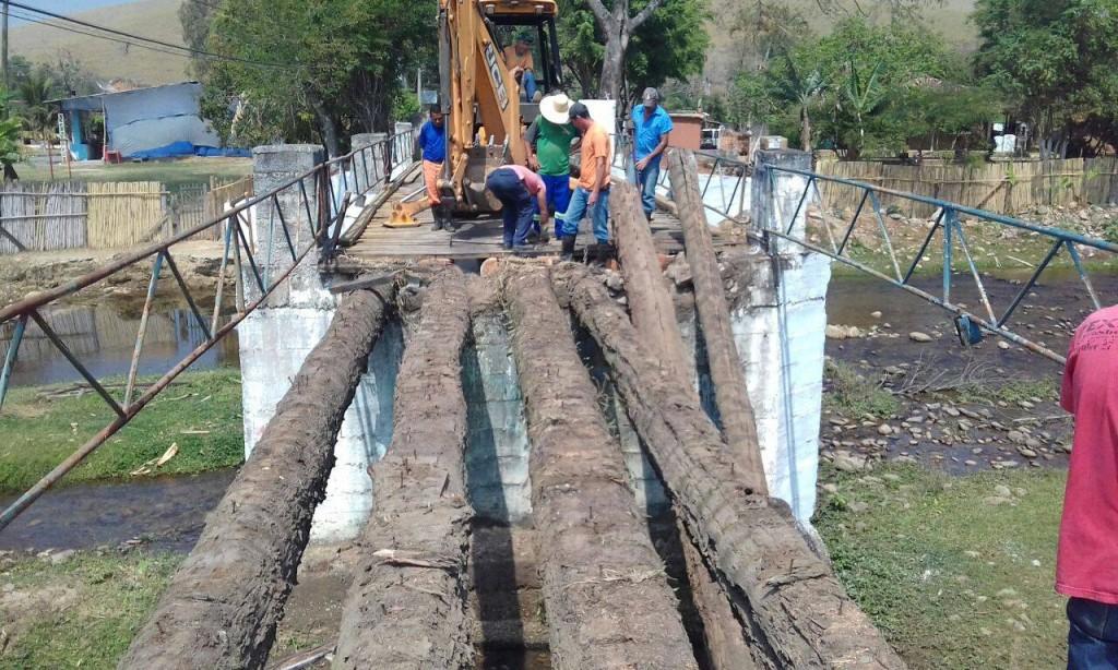 Obras na ponte do Taquaral iniciadas após liberação de R$ 135 mil do Estado (Foto: Divulgação)