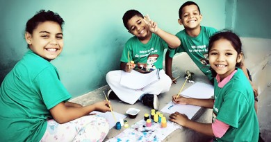 Crianças atendidas por projeto na Cecap; ação dá exemplo para bairro (Foto: Divulgação)