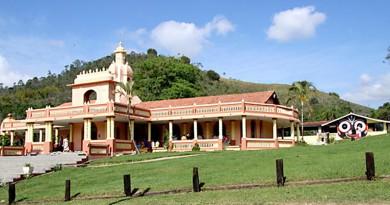 Templo na fazenda Nova Gokula, um dos pontos mais visitados em Pinda; cidade busca MIT em 2018 (Foto: Arquivo Atos)