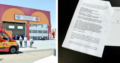 A sede do Corpo de Bombeiros em Aparecida; documento entregue à Prefeitura aponta condições questionadas por morador em ação contra cobrança de tarifa no IPTU (Foto: Juliana Aguilera)