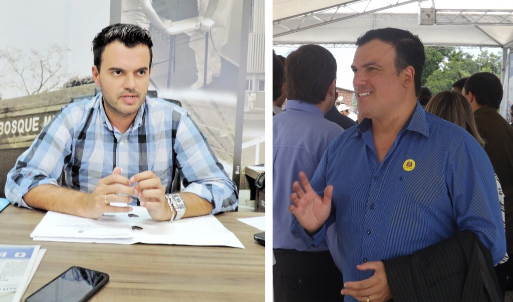 O presidente da Câmara de Cruzeiro Charles Fernandes e o prefeito Thales Gabriel; reajuste polêmico (Foto: Arquivo Atos)