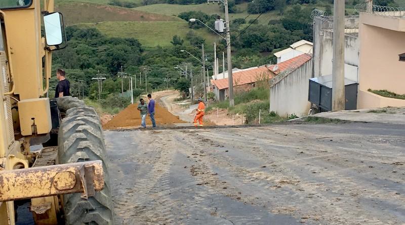 Avenida Brasil, no Jardim da Fonte; investimento de R$ 200 mil (Foto: Jéssica Dias)