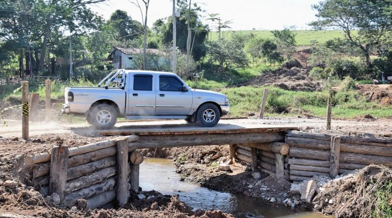 Principal estrada do Bairro das Palmeiras, em Lorena, passa por obras; investimento é de aproximadamente R$ 30 mil (Foto: Divulgação)