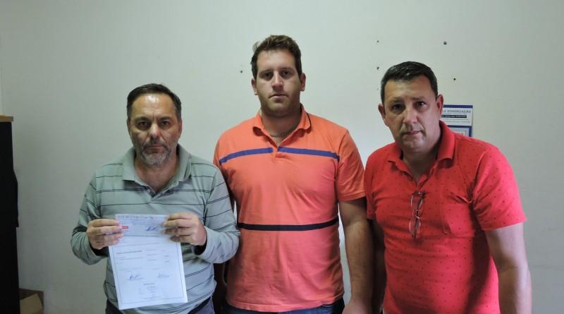Carvalho, Pedro Paulo e João Loló, parceria entre poderes em Silveiras (Foto: Divulgação)