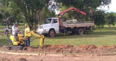 Início dos trabalhos de recuperação de área da Lagoa do Mondesir; obras atendem antigo pedido na cidade (Foto: Lucas Barbosa)
