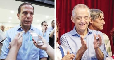 Márcio França e João Doria; atenção à RMVale cresce e prefeitos ampliam expectativas para melhor atendimento do Estado a partir de 2019 (Fotos: Jéssica Dias e Reprodução)