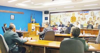 O plenário da Câmara de Guaratinguetá, que definiu novas comissões permanentes; MDB em baixa (Foto: Arquivo Atos)