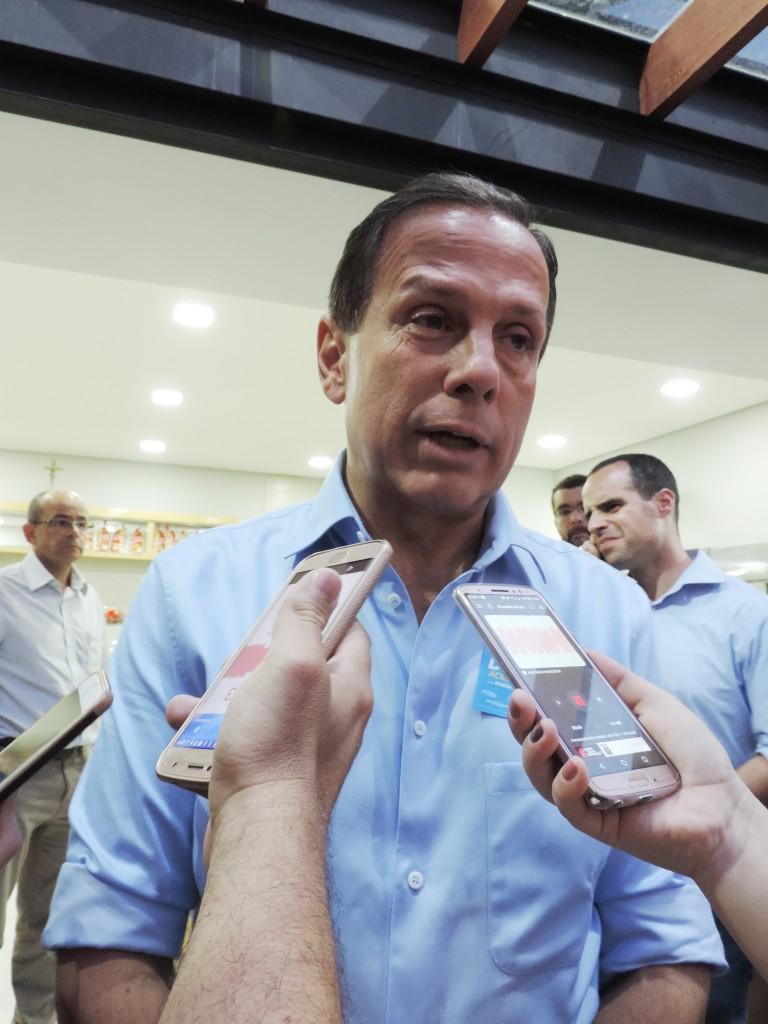 Governador João Doria, que repassou nova verba para turismo (Foto: Jéssica Dias)